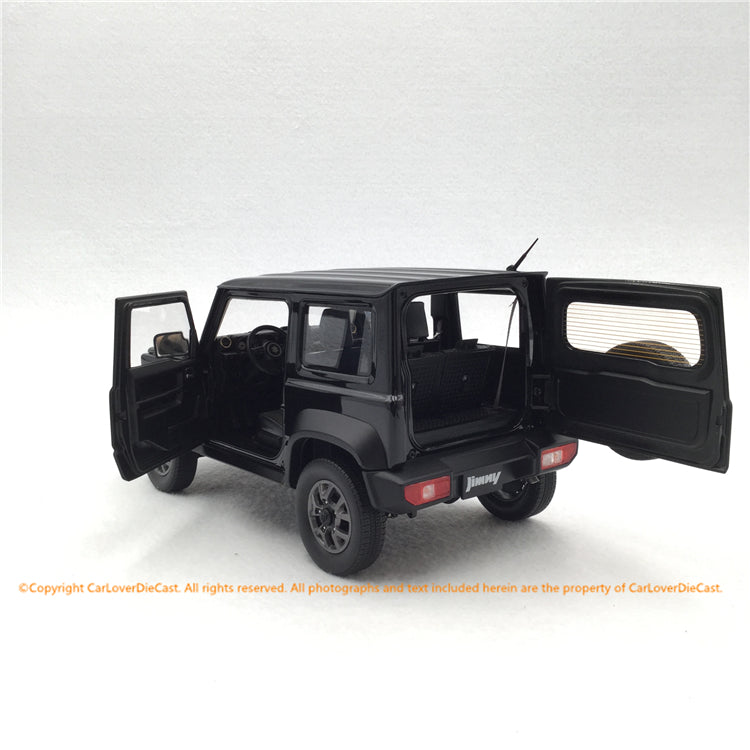 BM Creations 1:18 Suzuki Jimny Sierra Bluish Black Pearl 3 (18B0011) Left Hand Drive diecast Full open available on October 15th 2020 Pre order now