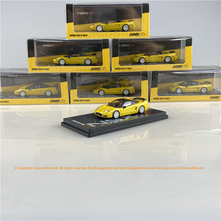 INNO 1:64 HONDA NSX-R NA2 Yellow W/ Extra Wheels (IN64-NSXR-YL) diecast car model available now