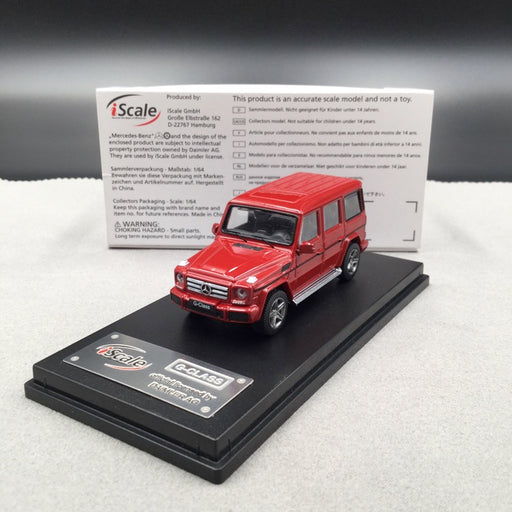 iScale 1:64 Mercedes W463 G-Klasse (Red ) diecast car model with display case and cover  available on end of June 2019