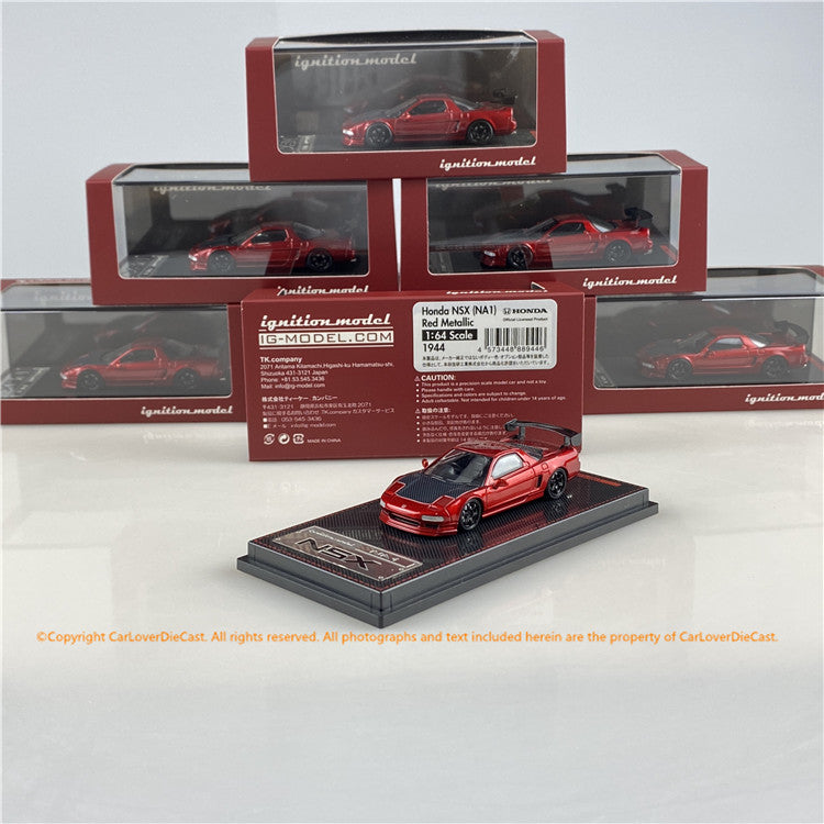 Ignition Model 1/64 Honda NSX  (NA1) Red Metallic (IG1944) Diecast car model available now