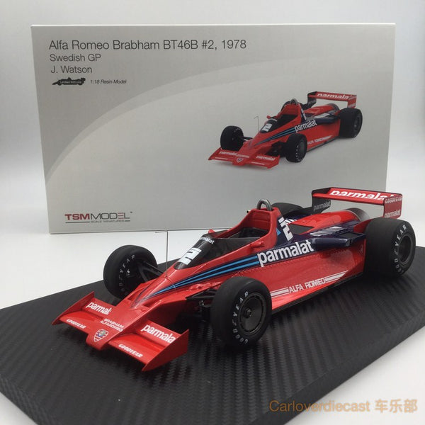 TSM - Alfa Romeo BT46B ##2  1978 Swedish GP  J. Watson  Limited 500 Pcs resin scale 1:18 (TSM151804R) Available now