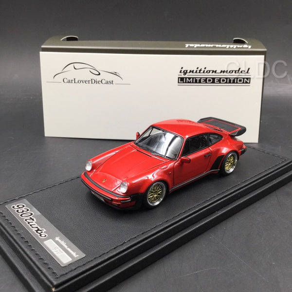 Ignition Model 1:43 Porsche 911 (930) Turbo  (Red) with BBS Wheels (IG0938) CLDC exclusive (Except Japan) available now