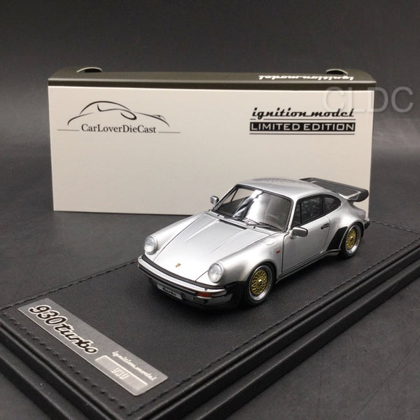 Ignition Model 1:43 Porsche 911 (930) Turbo  (Silver) with BBS Wheels (IG0942) CLDC exclusive (Except Japan) available now