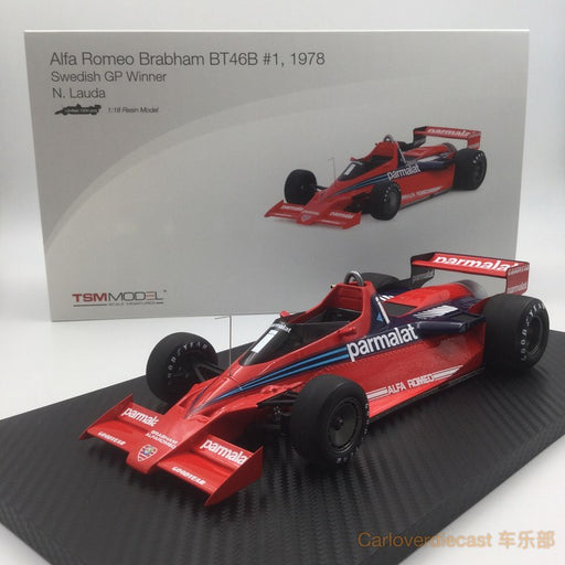 TSM - Alfa Romeo BT46B #1  1978 Swedish GP Winner  N. Lauda  Limited 1200 Pcs resin scale 1:18 (TSM151803R)available now
