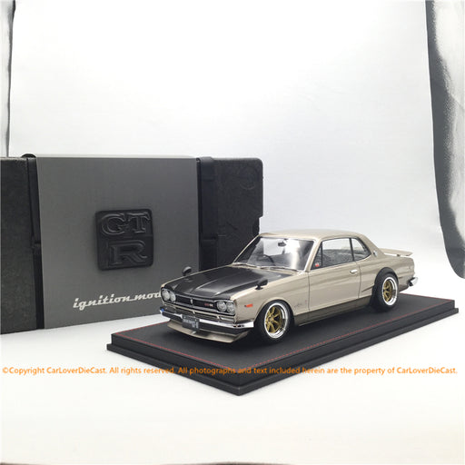Ignition Model 1:12 Nissan Skyline 2000 GT-R (KPGC10)  Silver *Watanabe-Wheel resin model  (IG1590) available now