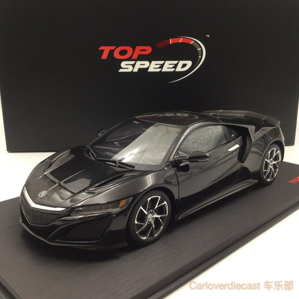 TopSpeed - Acura NSX (LHD) resin scale 1:18 in Berlina Black Limited 999pcs (TS0015) Free Display Cover !