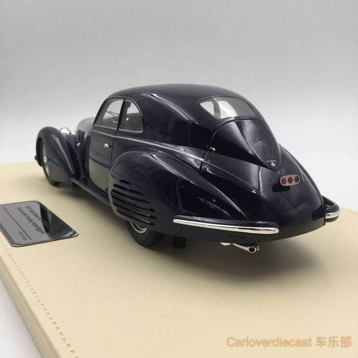 (TSM Model) Alfa Romeo 8C 2900B Lungo Carrozzeria TOuring Superleggera 1937 Dark Blue resin scale 1:18 (TSMCE161801) available now