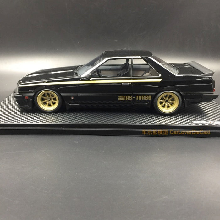 Ignition Model  Nissan Skyline 2000 RS-Turbo (R30) Resin Scale 1/18 Model (IG0986) Black with Watanabe Wheel