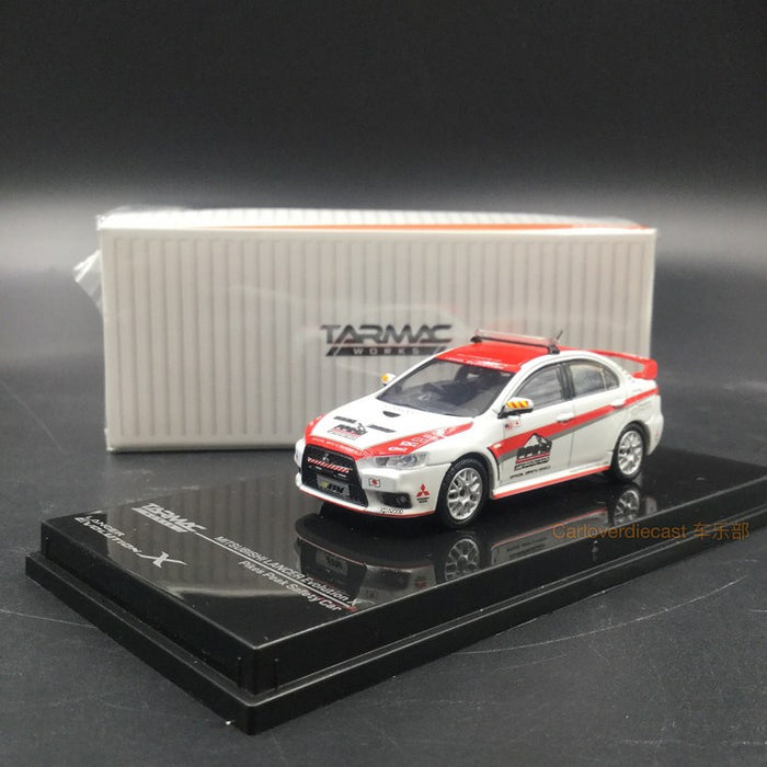 Tarmac works 1:64 diecast Mitsubishi EVO X Pikes Peak Safety Car available now T64-004-PP