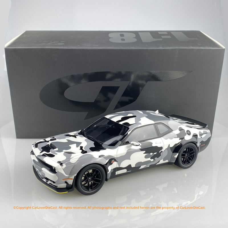 GT Spirit 1:18 Dodge Challenger R/T Scat Pack Widebody CAMOUFLAGE (GT831) CLDC Exclusive Edition available on Sep 2020 pre-order now