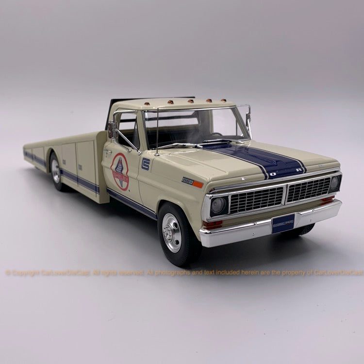 ACME 1:18 1970 Ford F350 Ramp Truck Shelby Racing / Black / Coke  (A1801400/1/4) Diecast