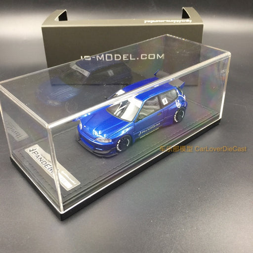 (Ignition Mode) Pandem Civic (EG6) Blue Metallic (RB-Wheel) resin scale 1:43 IG1176 free display cover