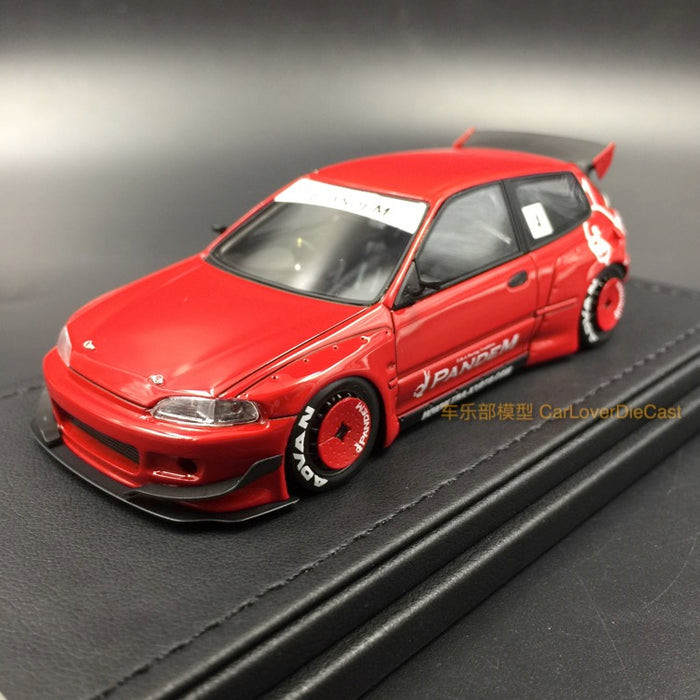 (Ignition Mode) Pandem Civic (EG6) Red resin scale 1:43 (Red) IG1172