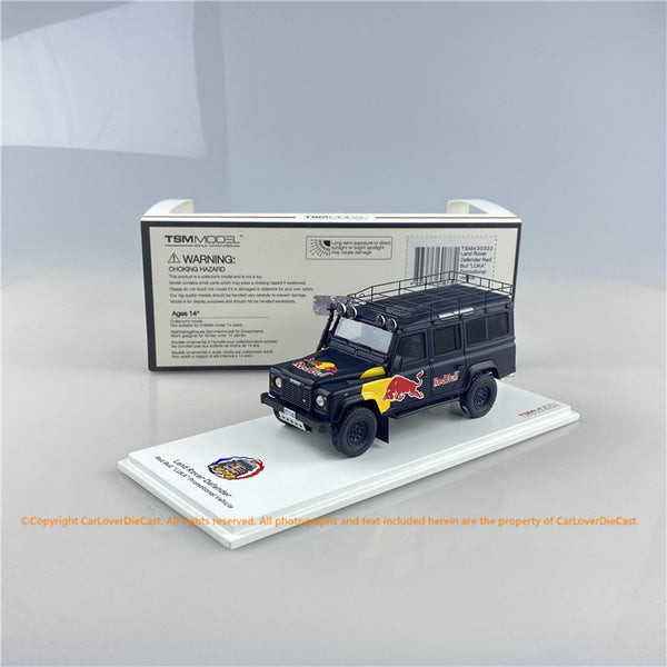 "TSM 1:43 Land Rover Defender Red Bull ""LUKA"" Promotional Vehicle  (TSM430322) resin car model available now"