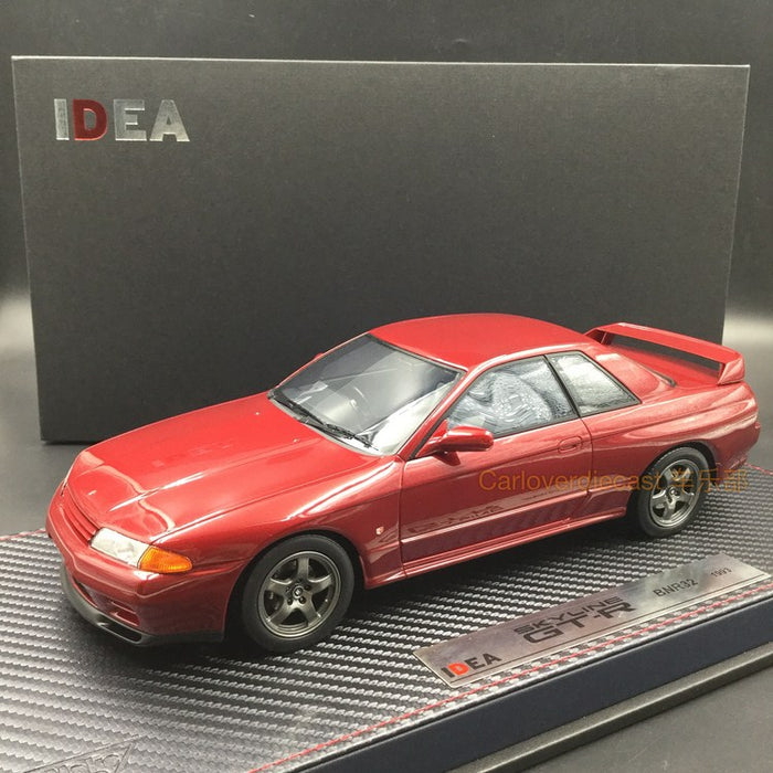 Makeup Nissan Skyline GT-R (BNR32) 1993 red pearl Metallic resin scale 1:18 (IM007A3)