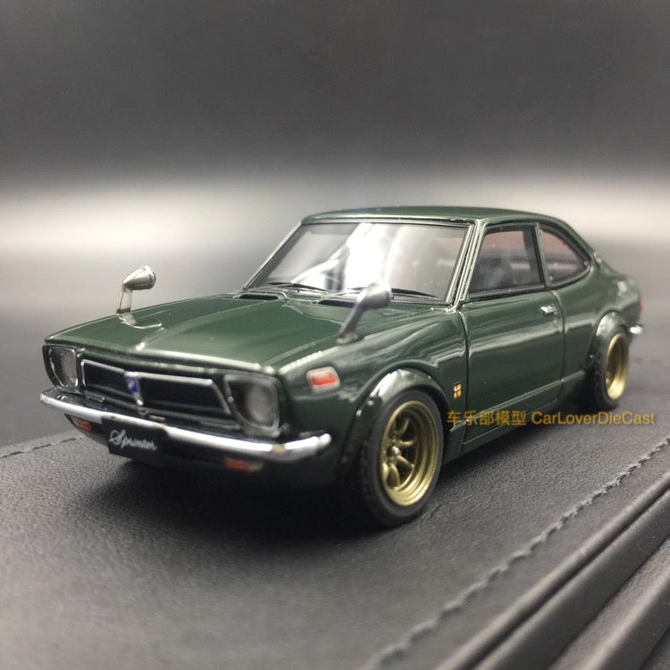 Ignition Model Toyota Sprinter Trueno (TE27) Green resin scale 1:43  (IG0735) available  now