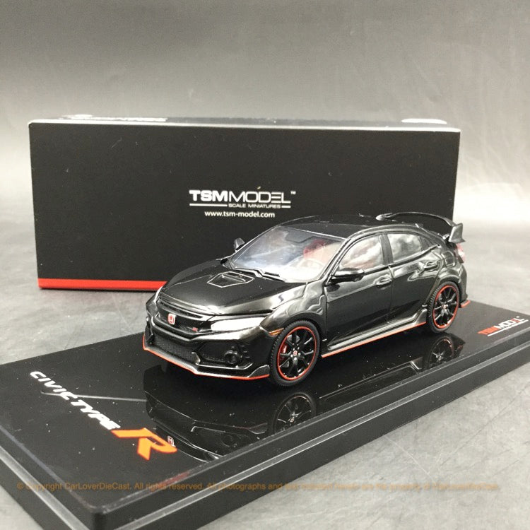TSM 1:43 2017 Honda Civic Type R Crystal Black pearl (LHD) Diecast car model (TSM430270) available Now