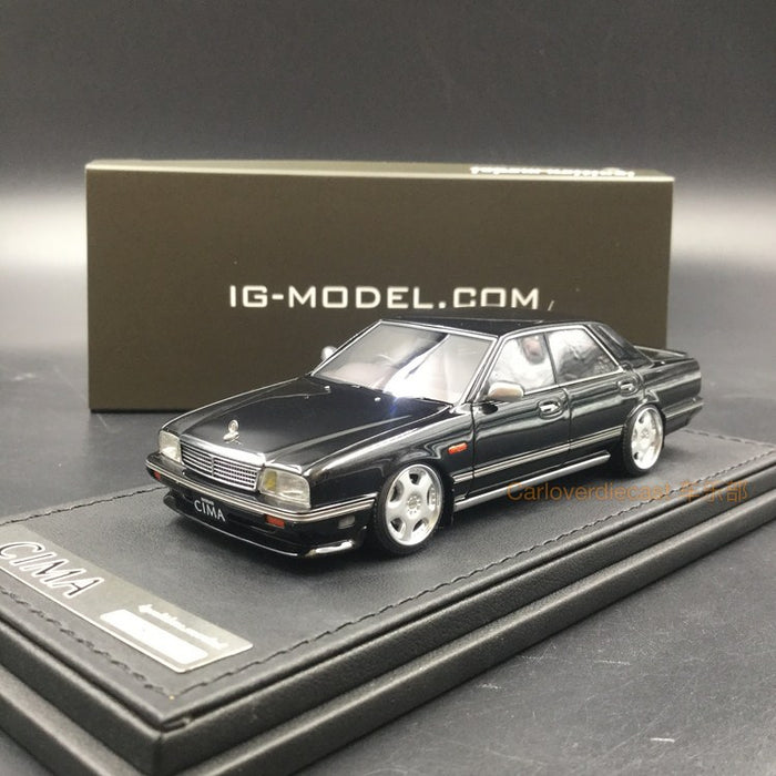 Ignition Model Nissan Cedric Cima (Y31) Resin Scale 1/43 Model (IG1090) Black