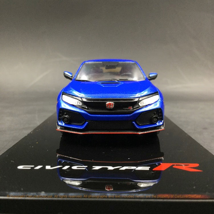 TSM 1:43 2017 Honda Civic Type R Aegean Blue Metallic (LHD) Diecast car model (TSM430271) available Now