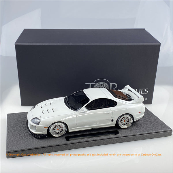 Top Marques 1:18  Hoonigan Supra (TOP86B) White  resin car model