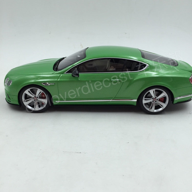 Bentley Continental GTV8 S Coupe Resin Scale 1/18 Model By GT Spirit (GT077) Green Limited 1500 units  available on Feb 2016