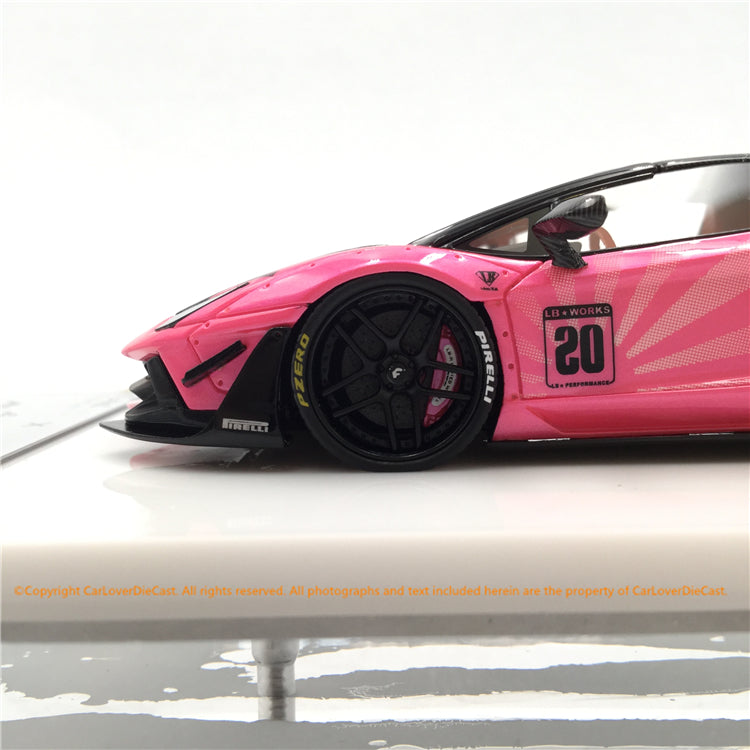 Fuelme 1:43 LB Works Aventador Roadster 50th Limited edition (Pearl Rose) Resin Car model (FM43007-50LE-JN20) available now