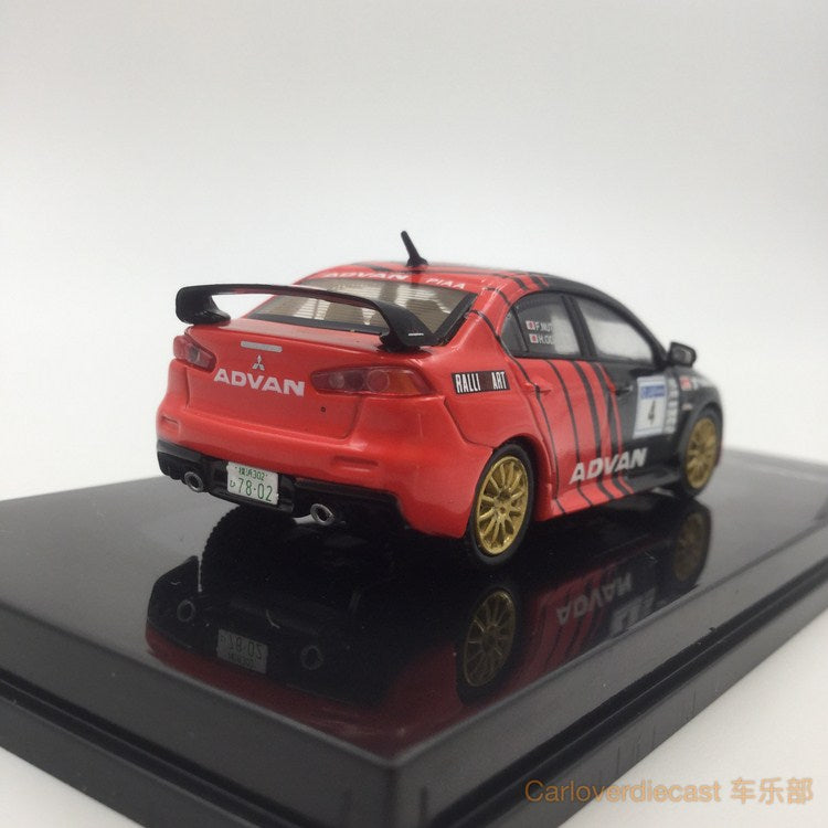 Tarmac works 1:64 diecast Mitsubishi EVO X - Advan racing available now T64-004-ADV