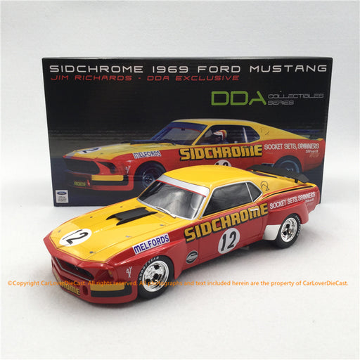 RAR 1:18 #12 Sidchrome 1969 Ford Mustang Jim Richard (RAR18008) Resin Car model