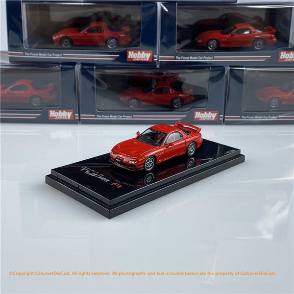 Hobby Japan 1:64 Mazda RX-7 FD3S Spirit R Type A (HJ641007AR) Red diecast car model available