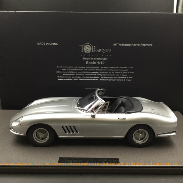 Top Marques -  275 GTB /4  Spider (Silver) 1:12 resin model (TM12-04G) available now