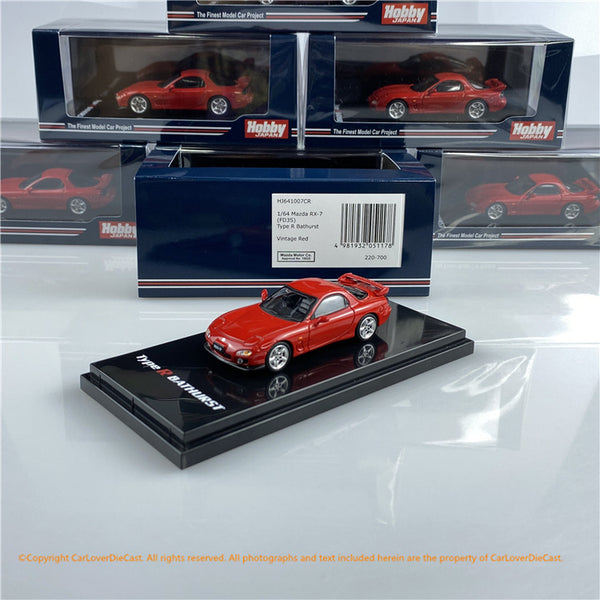 Hobby Japan 1:64 Mazda RX-7 FD3S  Type R Bathurst R (HJ641007CR) Red diecast car model available