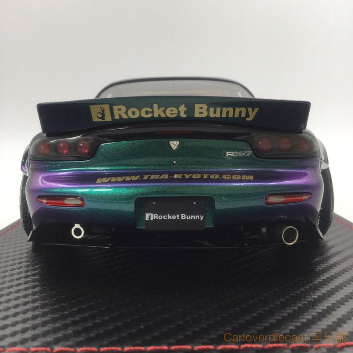 (Ignition Model) Mazda RX-7 (FD3S) Rocket Bunny resin scale 1:18 chameleon color exclusive by Carloverdiecast , available now (IG1331)