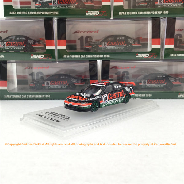 INNO 1:64 HONDA ACCORD # 16 MUGEN CASTROL JTCC 1996 (IN64-CD6-MC96) modèle de voiture moulée sous pression disponible maintenant