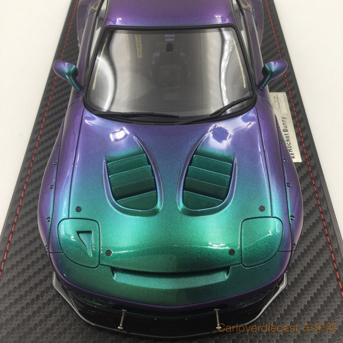 Free display cover (Ignition Model) Mazda RX-7 (FD3S) Rocket Bunny resin scale 1:18 chameleon color exclusive by Carloverdiecast , available now (IG1331) free display cover