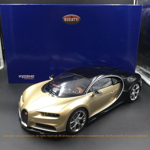 Kyosho 1:12 Bugatti Chiron (Gold) KSR08664GL-B Resin Car model Limited 300 units available now