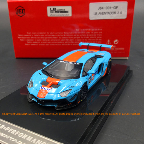 JEC 1:64 Liberty Walk Aventador 2.0 Gulf  (resin) car model  available now (J64-001-GF)