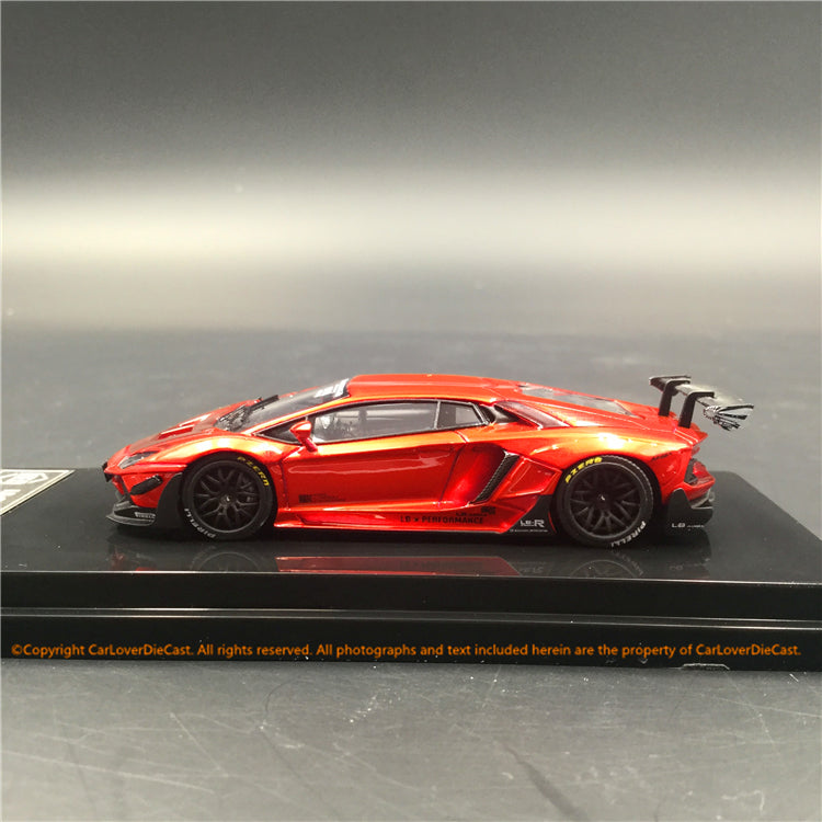 JEC 1:64 Liberty Walk Aventador 2.0 Metallic Red (resin) car model  available now (J64-001-MR)