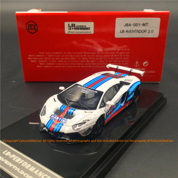 JEC 1:64 Liberty Walk Aventador 2.0 Martini  (resin) car model  available now (J64-001-MT)