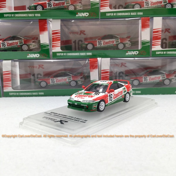 "INNO 1:64 HONDA INTEGRA TYPE-R DC2 # 16 ""CASTROL"" Super N1 Endurance Race 1996 (IN64-DC2-CA16) modèle de voiture moulé sous pression disponible maintenant"