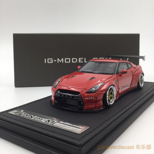 Ignition Mode Pamdem R35 GT-R Red  (RA-Wheel) Resin Scale 1:43 IG1152