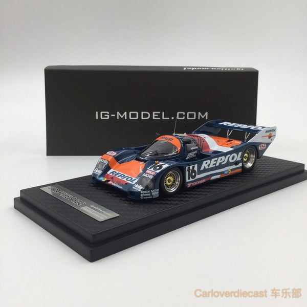 Ignition Model BRUN Porsche 962C (#16) 1990 Le Mans Resin Scale 1:43 IG0528
