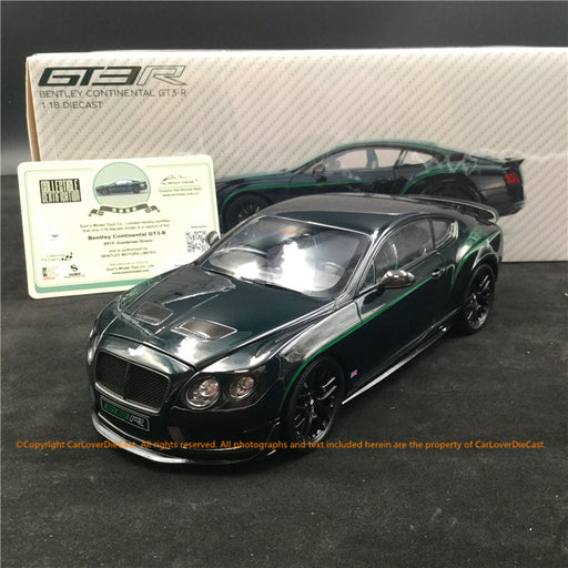 Almost real 1:18 Bentley Continental GT3 R 2015 - Cumbrian Green (830402) diecast full open available now