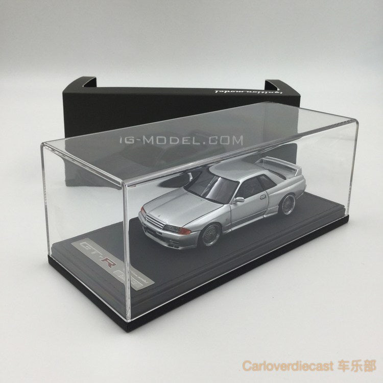Ignition Mode Nissan Nismo R32 GT-R S-tune Jet Silver Metallic (BB-Wheel) Resin Scale 1:43 IG0923