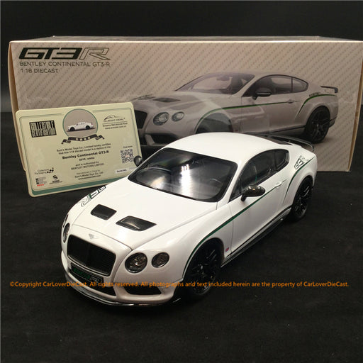 Almost real 1:18 Bentley Continental GT3 R 2015 - White  (830401) diecast full open available now