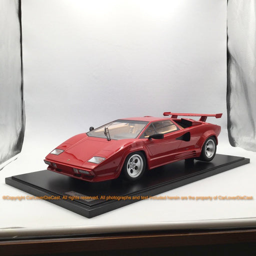GT Spirit 1:8 LAMBORGHINI COUNTACH LP500 QV + SHOWCASE BOX (Rosso siviglia) GTS80031 Resin car model available now