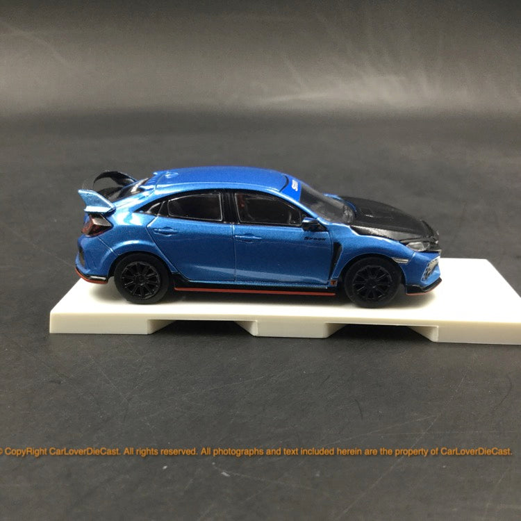 Tarmac Works 1:64 Honda Civic Type R FK8 Blue with black bonnet Tuned by Spoon comes with 1:64 container( T64-014-BLE) diecast model
