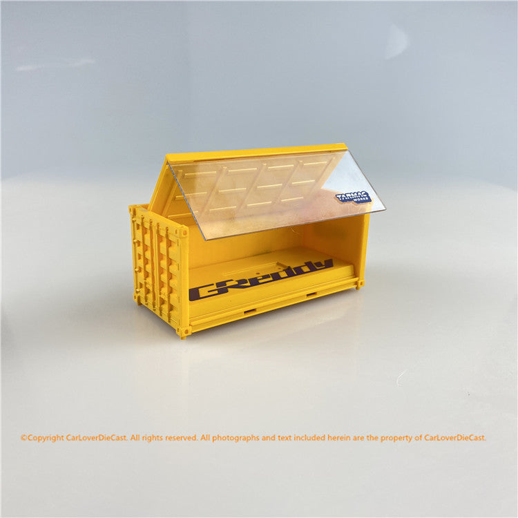 Tarmac Works 1:64 Container Base, GReddy  *** Two Containers with clear part  (T64C-001-GDY) diecast car model