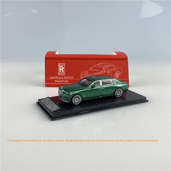 SMALLCARART 1:64  RR Phantom Generation 8  Green (SK164005GN) Diecast Car available on Nov 2020 Pre order now