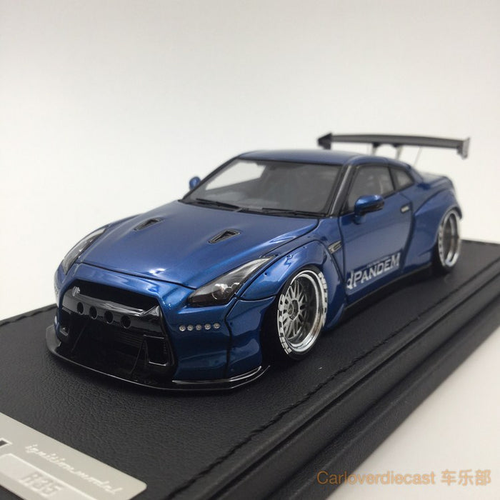 Ignition Mode Pamdem R35 GT-R Blue Metallic (BB-Wheel) Resin Scale 1:43 IG1153