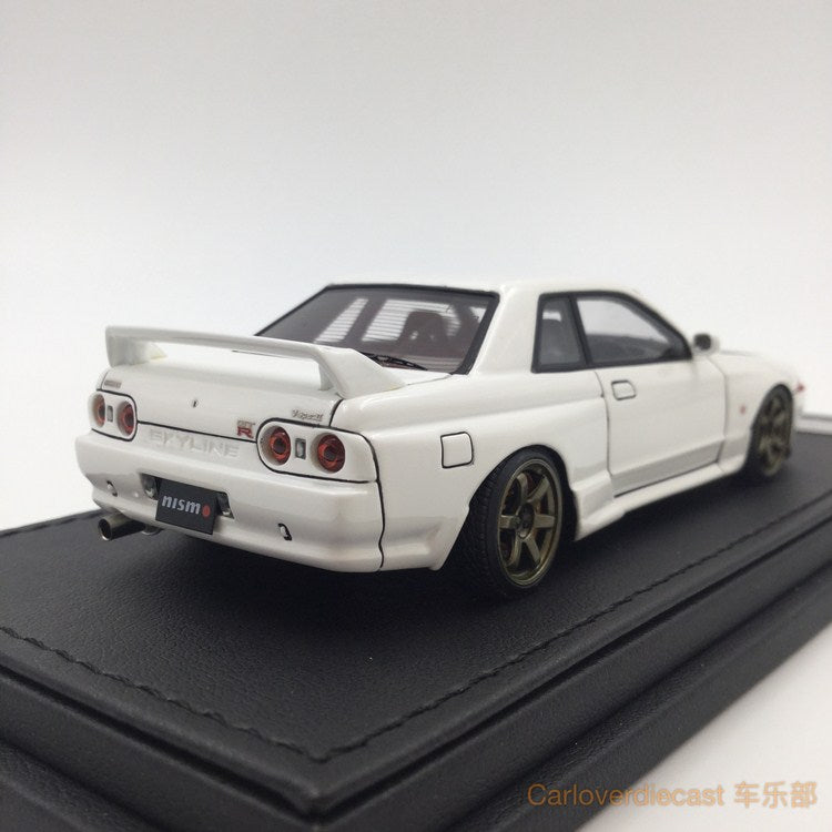Ignition Mode Nissan Nismo R32 GT-R S-tune Crystal White (RA-Wheel) Resin Scale 1:43 IG0922